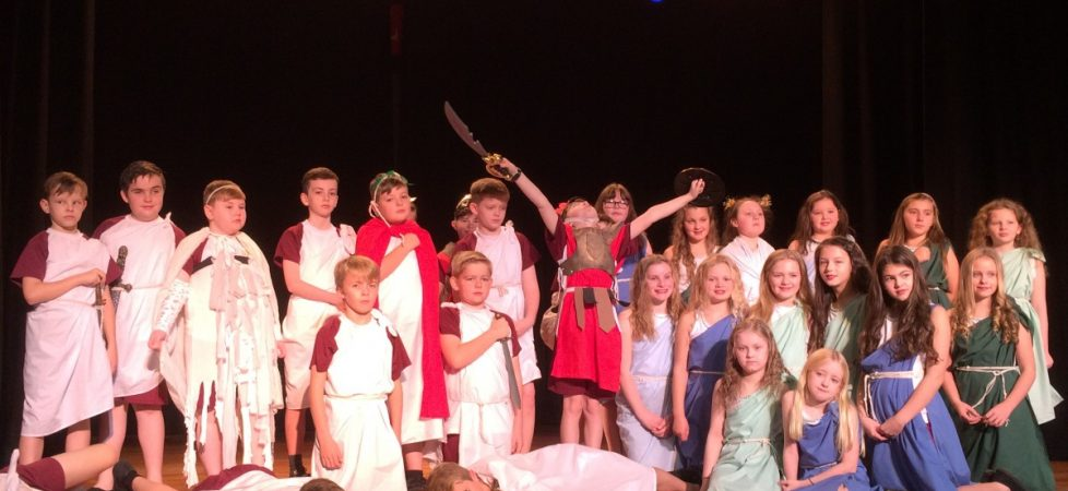 Y6 Julius Caesar Performance at De La Salle for Y7 and St Julie