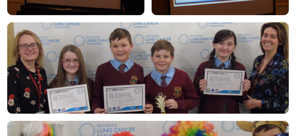 "Y6 win ""Most Innovative Business"" Award Roy Castle Lung Cancer Foundation Jan 2018"
